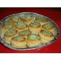 Assiette de Mini-Feuilletés d'Escargots : farcis à la Bourguignonne