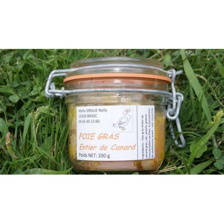 Foie gras entier de canard 180 gr en verrine